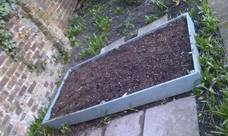 The second raised bed for vegetables