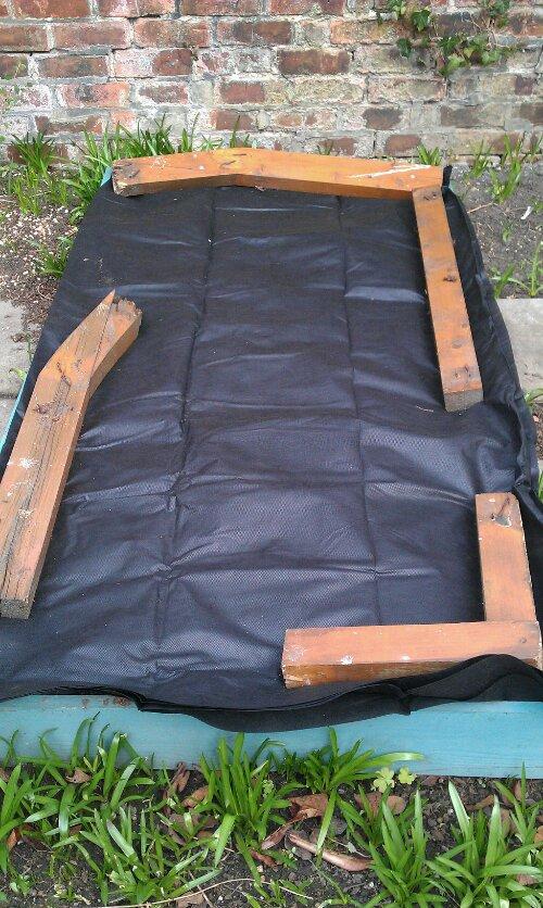 Covered raised veg bed
