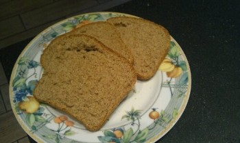 sliced home-baked wholemeal bread