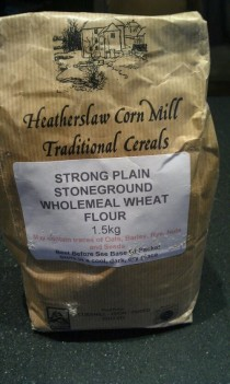Stoneground wholemeal flour from Heatherslaw Corn Mill