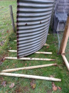 Fence post rollers