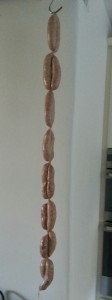 Home-made Cumberland sausages