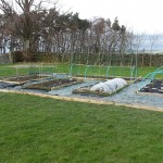 Raised beds nearing completion