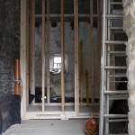 Pellet store frame under construction