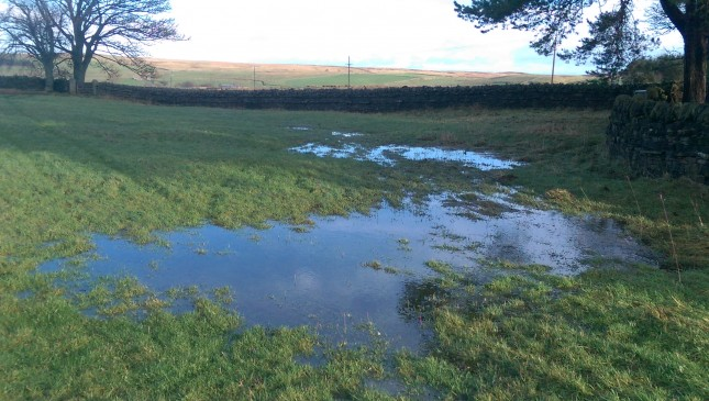 Field drainage overwhelmed